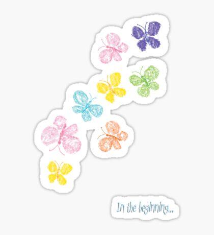 In the beginning -butterfly swarm Sticker