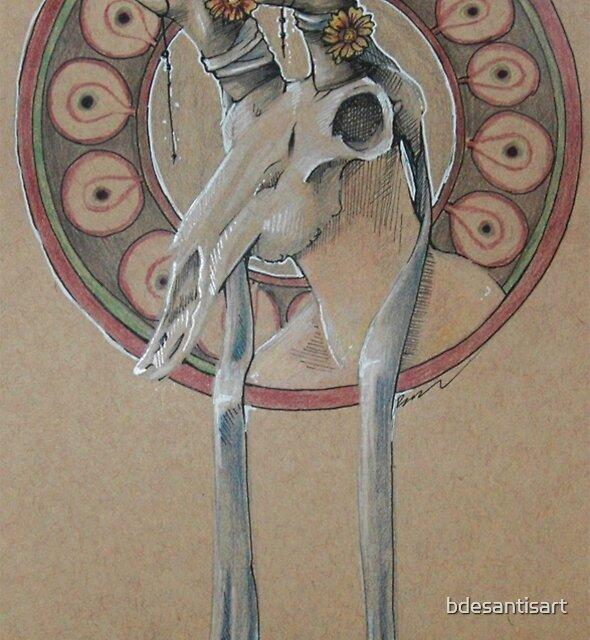 Lady Pronghorn by bdesantisart