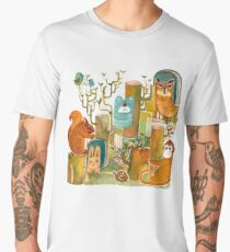Animals in the Wood Men's Premium T-Shirt