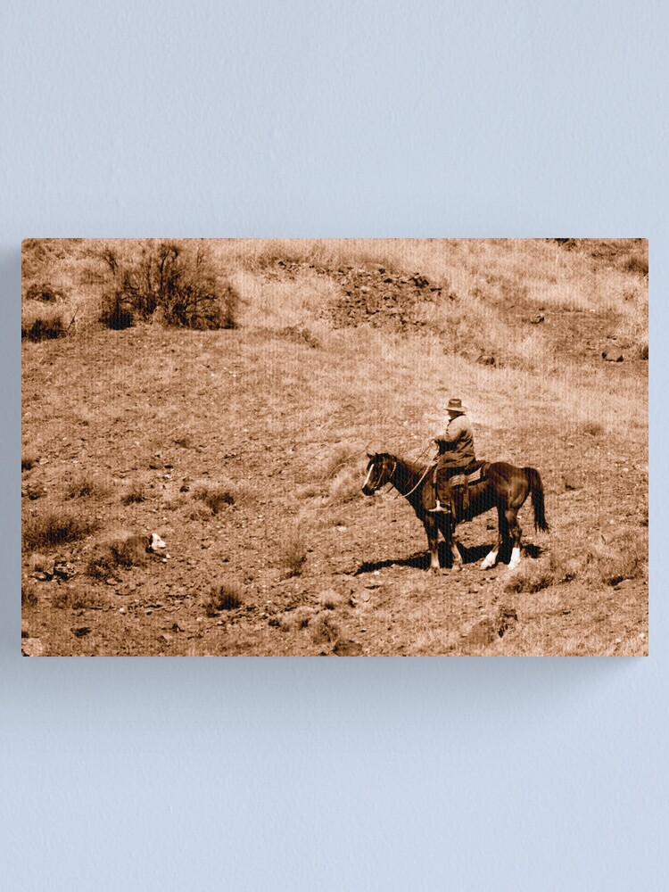 Alternate view of The Real West in Sepia Canvas Print