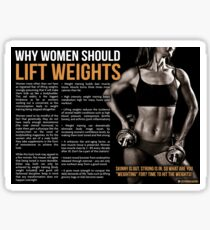 Why Women Should Lift Weights - Infographic Sticker