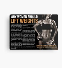 Why Women Should Lift Weights - Infographic Metal Print