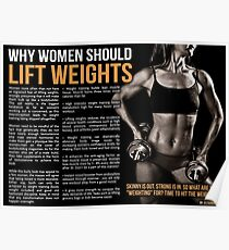 Why Women Should Lift Weights - Infographic Poster