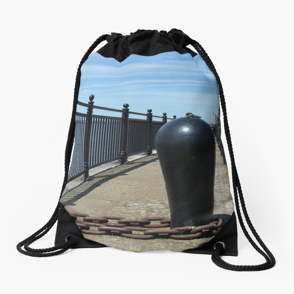Old Boat Chain Next To The River Mersey, Liverpool, Merseyside Drawstring Bag