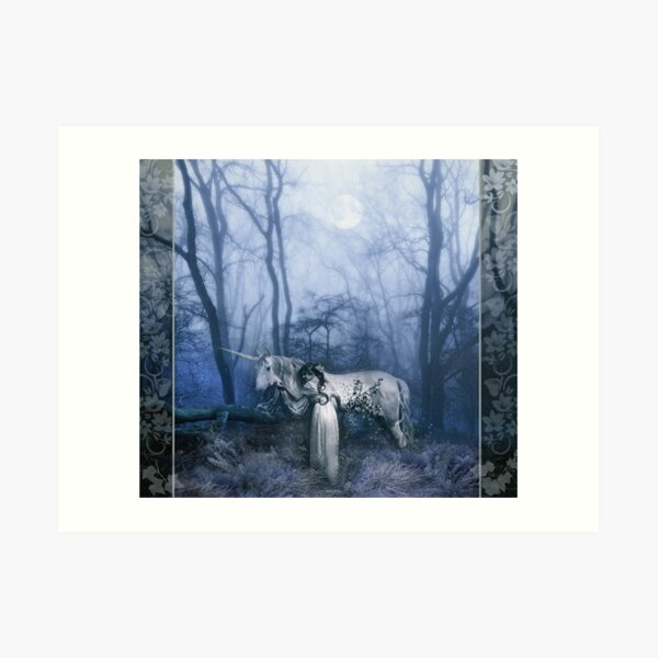 The Meeting in The Woods Art Print