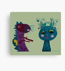 puppy love : deer and dragon the lover Canvas Print