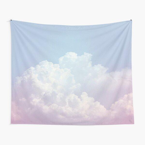 Dreamy Cotton Blue Sky Tapestry