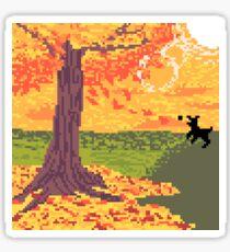 Pixel Dog Park Sticker