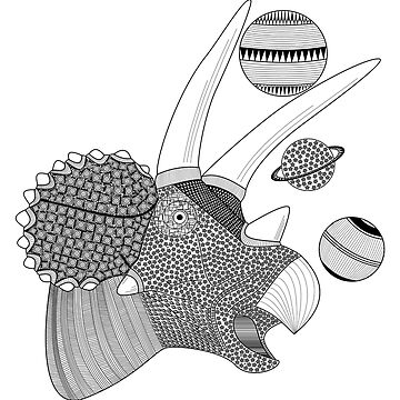 Triceratops by artsandherbs