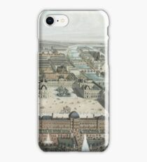 modern Paris. The Tuileries, the Louvre, and the Rue de Rivoli, view from the Garden Tuileries iPhone Case/Skin