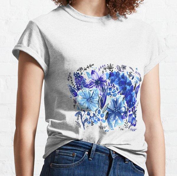 Blue Flowers galore Classic T-Shirt