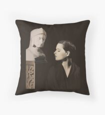 Louise Brooks with bust of Dante Alighieri  Throw Pillow