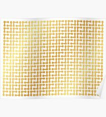 Gold abstract background Poster