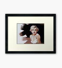 Marilyn Monroe In Oil Framed Print
