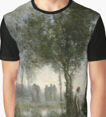 Orpheus Leading Eurydice from the Underworld by Jean-Baptiste-Camille Corot, 1861 Graphic T-Shirt