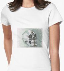 Chrome Skull Womens Fitted T-Shirt