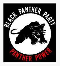 THE BLACK PANTHER PARTY Photographic Print