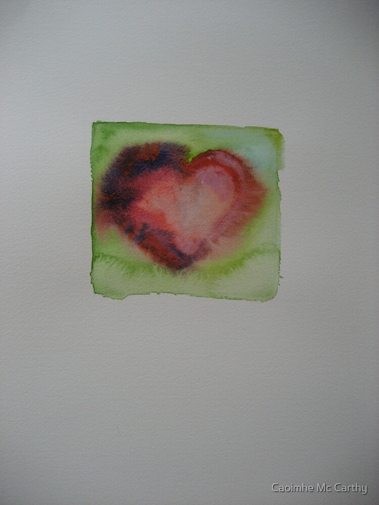 Water colour heart 2 by Caoimhe Mc Carthy