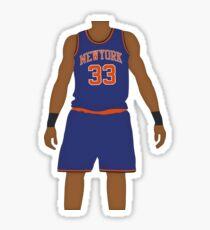 Patrick Ewing Knicks Blue Jersey Sticker