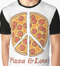 Pizza & Love Graphic T-Shirt