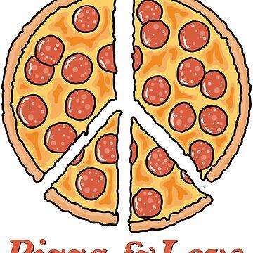 Pizza & Love by goddardcartoons