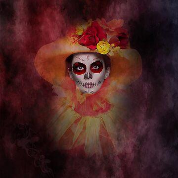 Summer Girl Sugar Skull by LuciaS