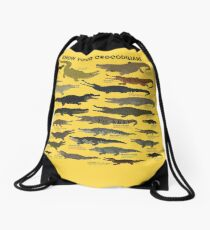 Know Your Crocodilians Drawstring Bag