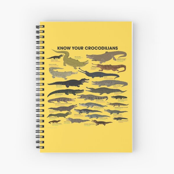 Know Your Crocodilians Spiral Notebook