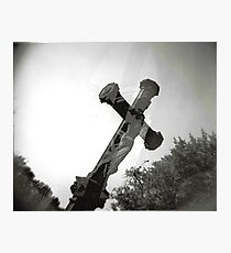 Cross and Trees Photographic Print