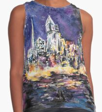 Lucid Cartography Watercolour Painting (Cityscape) Contrast Tank