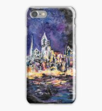 Lucid Cartography Watercolour Painting (Cityscape) iPhone Case/Skin