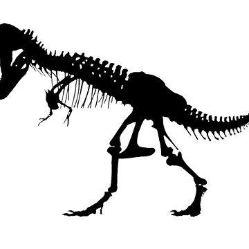 T REX, SKELETON, Tyrannosaurus Rex, Dinosaur  by TOMSREDBUBBLE