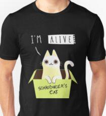 955c9b11c Schrodinger's cat : ALIVE! Slim Fit T-Shirt