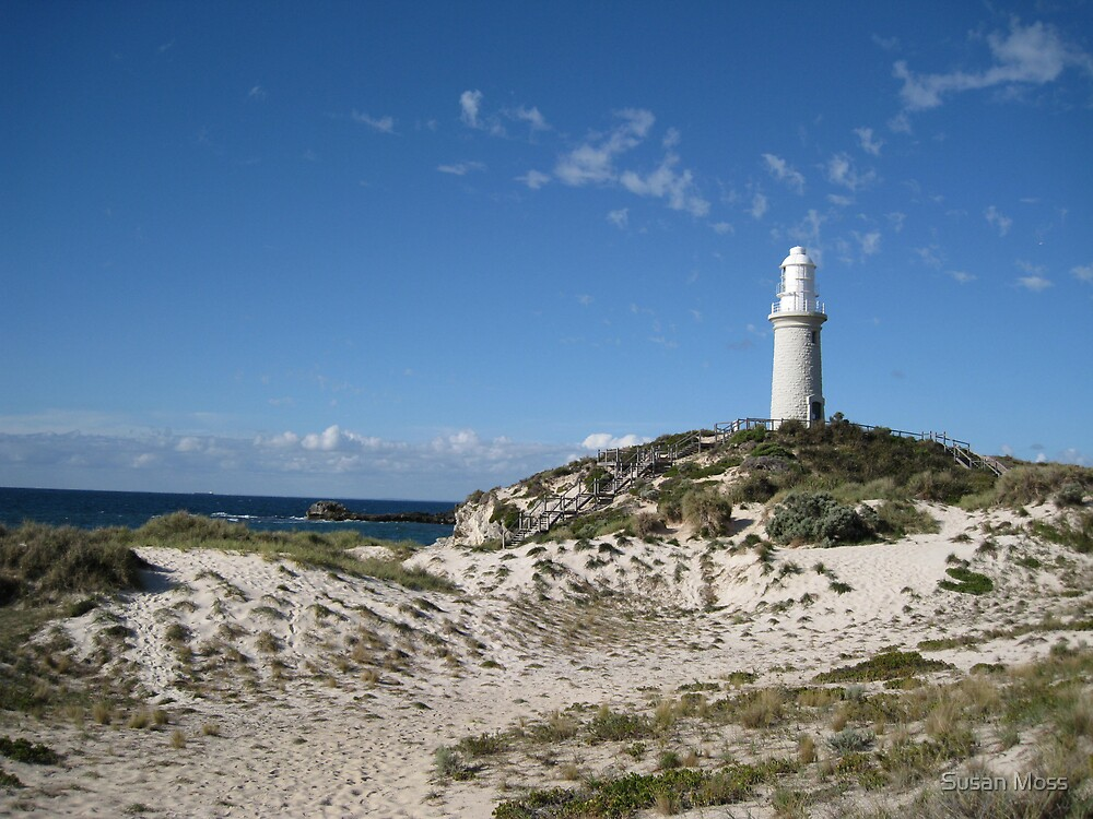 Lighthouse at  Rottnest Island - 2 by Susan Moss