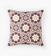 Hipster enthic print bohemian  burgundy red Moroccan pattern  Throw Pillow