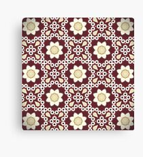 Hipster enthic print bohemian  burgundy red Moroccan pattern  Canvas Print