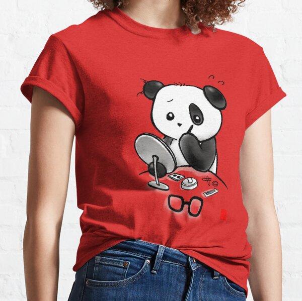 Panda Makeup Classic T-Shirt
