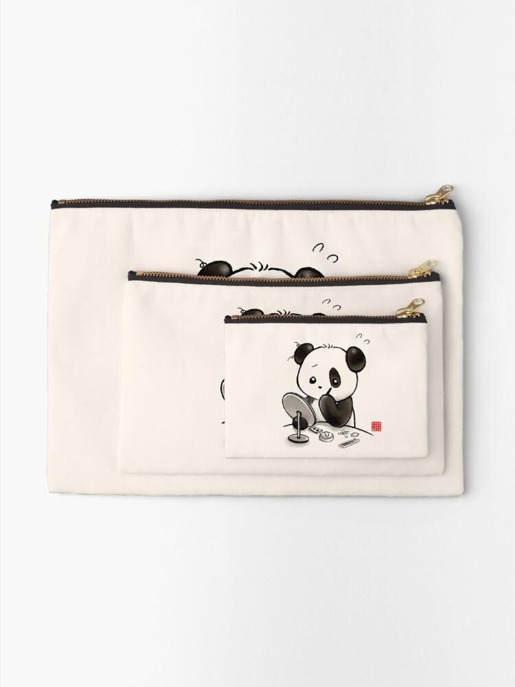 Alternate view of Panda Makeup Zipper Pouch