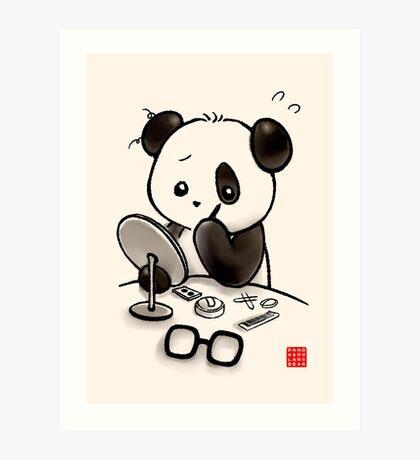 Panda Makeup Art Print