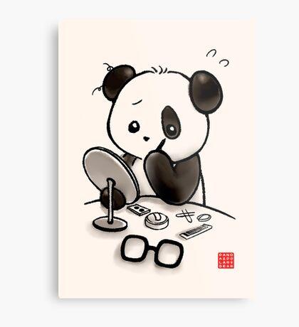 Panda Makeup Metal Print
