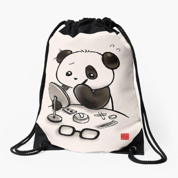 Panda maquillage Sac à cordon