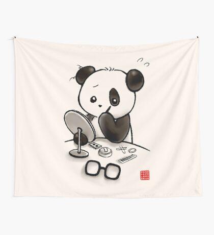 Panda Makeup Wall Tapestry