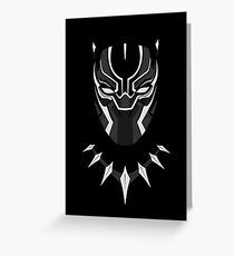Black Panther Minimalist Greeting Card