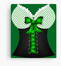 St patricks day vintage Irish traditional leprechaun corset  Canvas Print