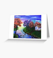Secluded House by the River Greeting Card