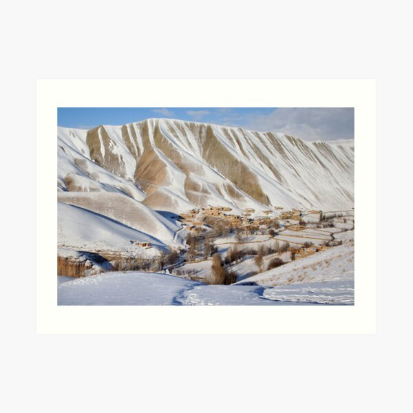 Village in winter (Afghanistan) Art Print