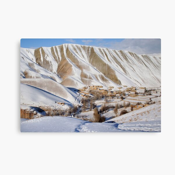 Village in winter (Afghanistan) Canvas Print