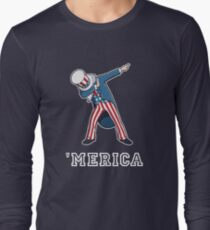 Merica - Dabbing Uncle Sam - Funny 4th of July Party shirt Long Sleeve T-Shirt