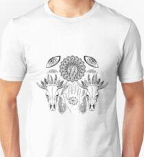 Divine hand black and white. Unisex T-Shirt