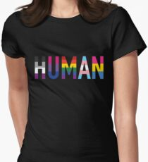 HUMAN Pride Womens Fitted T-Shirt